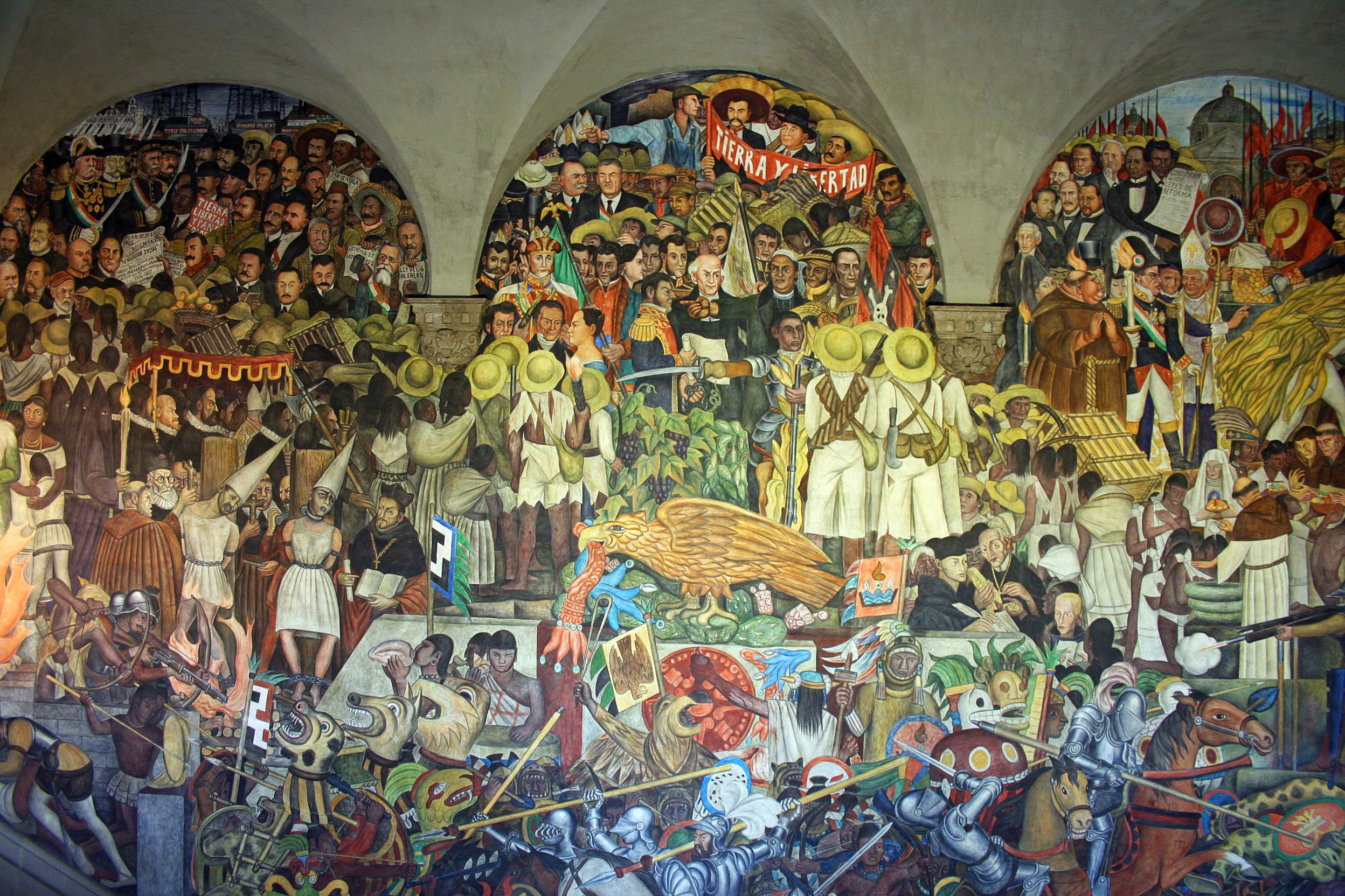 Diego rivera s vision realized and unrealized human in for Diego rivera mural