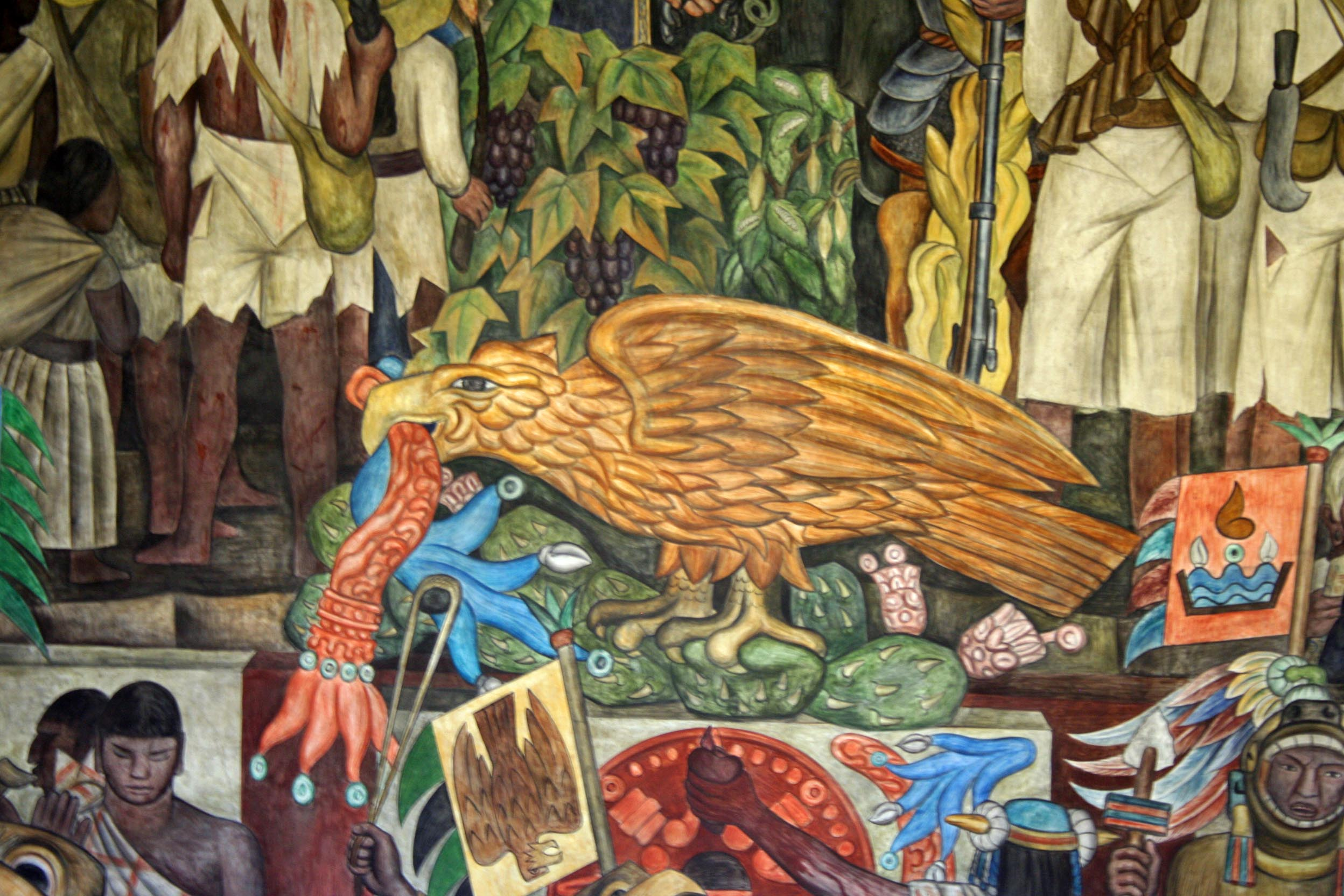 Diego Rivera - Page 4 The-eagle-in-the-history-of-mexico